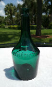 Tumbled - 1910and039s Antique Benedictine Liquor Bottle Stunning Blue/green Color