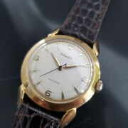 Mens Rolex Precision 35mm Gold Capped 1950s Manual Wind Vintage Watch Ma179