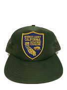 New Vintage Patch California Resources Agency Dept Fish Game Trucker Hat