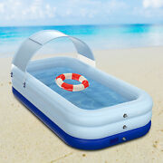 Inflatable Swimming Pools Above Ground Pool Kids Family Outdoor Indoor W/battery