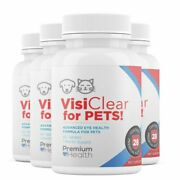 4 Bottles Visiclear For Pets Advanced Eye Health Formula For Pets 60 Tab X 4