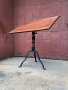 Morris Drafting Table Cast Iron Industrial Office Desk Kitchen Art Easel Ny