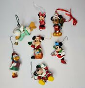 7 Vintage Disney Christmas Ornaments Mickey Mouse Donald Duck Minnie Mouse