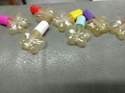 120 New Empty Clear Plastic Bottles W/ Brush Cap Nail Polish Arts And Crafts