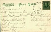 Benjamin Franklin 1 Cent Stamp On Rare Postcard 1908 Post Marked 113 Years Old