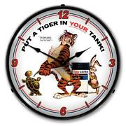 Esso Tiger Put A Tiger In Your Tank 14 Led Wall Clock