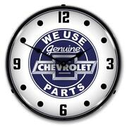 We Use Genuine Chevrolet Parts 14 Led Wall Clock