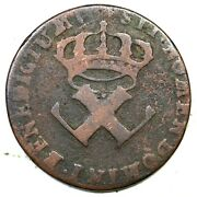 1721-h French Colonies 9 Deniers Colonial Copper Coin