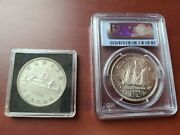 Canada Silver Dollar 1946 And 1949 Ms63