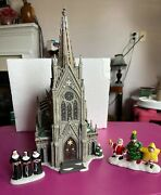 Department 56 Christmas The Cathedral St. Nicholas And 2 Extra Pcs Nuns And Pagent