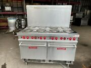 Vulcan Electric Range 8 French Plate 2 Standard Ovens