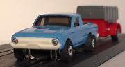 Exclusive 164 Scale 1961 Ford Ranchero And Trailer Metal Body Slot Car
