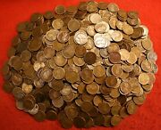 1910's Teens Mint Mark Lincoln Wheat Cent Penny 500 Mixed Date Coins W/issues