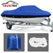 17-19ft V-hull Trailerable Boat Cover Uv Dust Rain Resistant With Tighten Rope