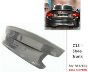 For 2016+ Bmw F22 F87 M2 M235i 2 Series Carbon Fiber Trunk Boot Cls Style