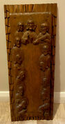 Antique Salvaged Church Hand-carved Oak Last Supper Christianity Jesus Wall Hang