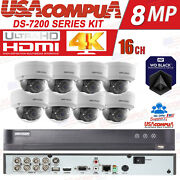 Hikvision Cctv Security System 8 Ch 3mp Dome Vandal/weather Proof Hdd Included