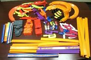 Large Lot Of 144 Hot Wheels Racing Track Parts