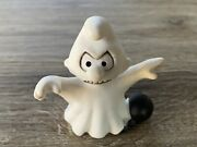 Rare Vintage Smurf 20542 Halloween Ghost Pvc Figure Cake Topper Toy Germany