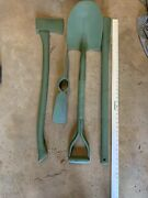 Pioneer Set Military Issue Carc Paint Axe Shovel Pickaxe And Handle Tools Only