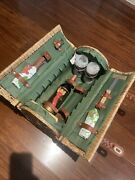 Picnic Time Verona Vintage Pine Green Wine And Cheese Picnic Basket, Service For 2