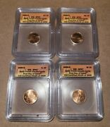 2009-d Icg Sp67 Satin Finish Lincoln Cents First Day Issue 4 Coin Set