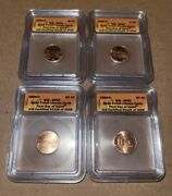 2009-p Icg Sp67 Satin Finish Lincoln Cents. First Day Issue 4 Coin Set