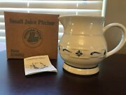 Longaberger Roseville 1991 Dated Pottery Juice Pitcher Usa Made Woven Traditions