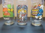 Vintage Glassware Collectibles-camp Snoopy Lucy Miss Piggy And Baker Smurf