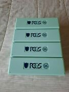 Pcgs Mint Green 35 Years Coin Storage Boxes-lot Of 4-used-no Coins