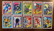 Marvel 1 1990 Impel Complete Set 1-162 Near Mint Condition Spiderman Thing Hulk