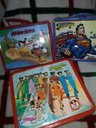 1976 Mickey Mouse Club Lunchbox Andthermos By Aladdin + 2 Bonus Lunchboxes