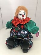 Huge Hooray For Clowns Porcelain Clown Weighs 3.5 Lbs 14andrdquox14andrdquo Nwt Free Ship
