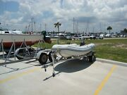 Ab Ventus 10 Inflatable Rib Dinghy 9 Hp Yamaha 2-stroke Outboard 14and039 Trailer