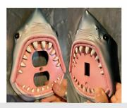 Shark Light And Plug Switch Plate Cover Switchplate Single Toggle Jaws Bite Mouth