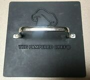 The Pampered Chef Heavy Cast Iron Bacon Burger Panini Grill Pressss Handle