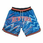 Just Don Mitchell Ness New York Knicks Sublimated Ewing Starks Authentic Shorts