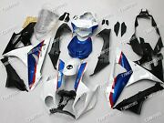 Fit For Bmw S1000rr 2009-2014 Abs Injection Mold Bodywork Fairing Kit White Blue