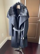 New With Dept Store Replacement Tags Nori Mackage Black Wool Coat Original 1350