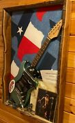 Zz Top Signed Gibbons Hill Beard Hanging Wall Display First Album Guitar