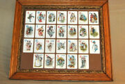 Rare Antique 1800s Victorian Child Toy Alphabet Playing Card Framed