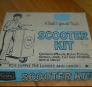 Rare Vintage Sears Marx Soap Box Scooter Kit New/old Stock. Complete Set