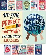 Growth Mindset Posters For Middle And High School Classroom Decorations – Set Of