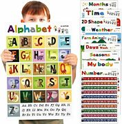 16 Toddlers Educational Learning Posters Classroom Wall Decorations Preschool Te