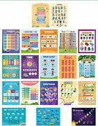 20 Extra Large Double-sided English And Spanish Classroom Posters And Decorations