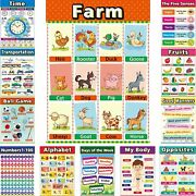 Educational Posters For Toddlers - Classroom Decorations - Kindergarten Homescho