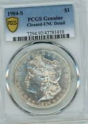 1904-s Morgan Silver Dollar Pcgs Uncirculated Details Looks Much Nicer 63 Rare