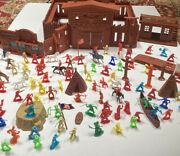 Vintage 1970's Fort Buffalo Cowboys And Indians Lot Over 100 Pieces