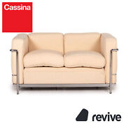 Cassina Le Corbusier Lc 2 Fabric Sofa Two Seater Couch