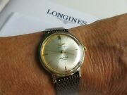 Longines Admiral Five-star Solid 14k Gold Automatic Menand039s Vintage Watch